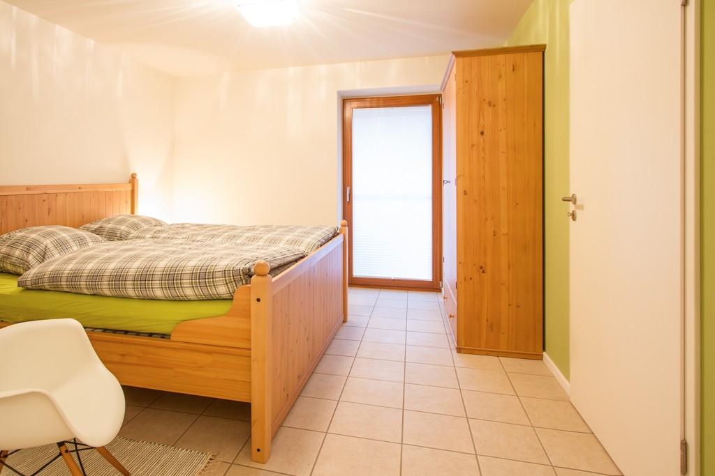 """Schlafzimmer """"Grün"""" im Untergeschoss"""