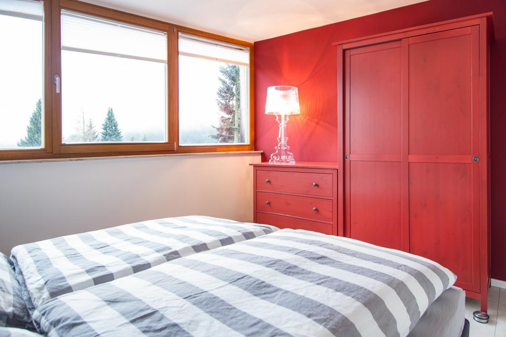 """Schlafzimmer """"Rot"""" im Obergeschoss"""